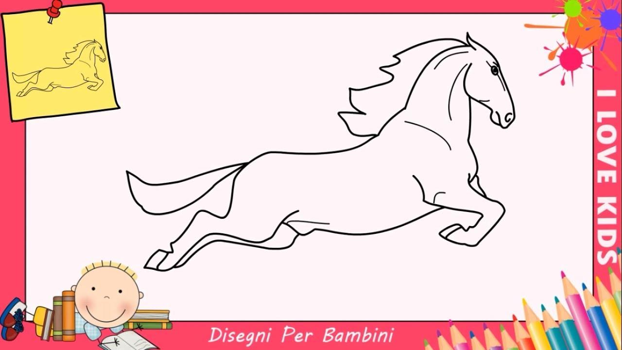 disegni di cavalli facili per bambini come disegnare un