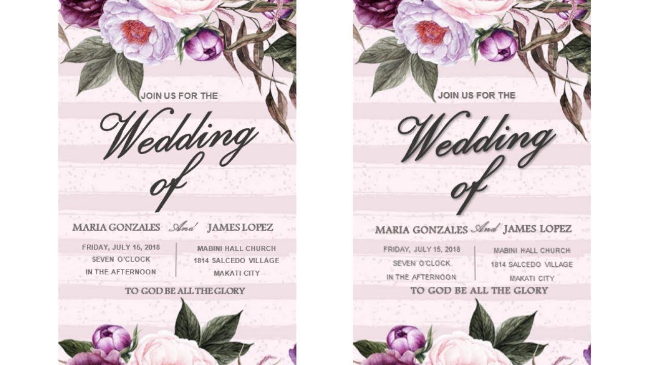how to create wedding invitation card tutorial using ms