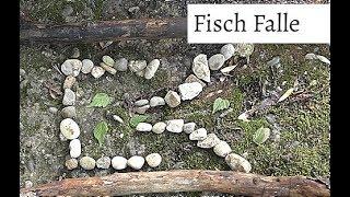 Fischen am Bach in einer Survival Situation, guter Trick für mehr Erfolg! (4K)