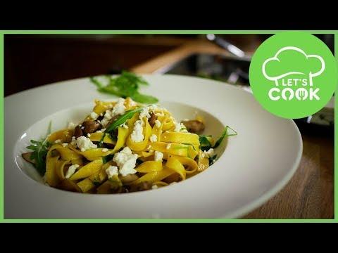 Pilz Pasta Mit Champignons Fetakäse Nur 5 Zutaten Youtube
