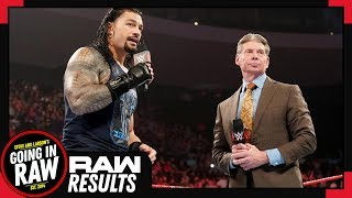 WWE Raw Full Results & Review   What Is A Wild Card Rule?   Going In Raw Podcast