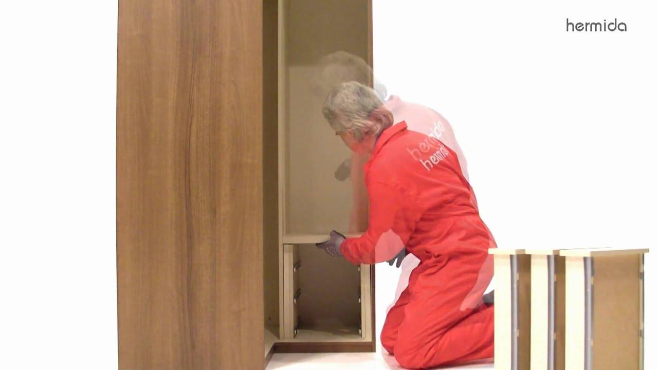 C mo montar un armario en ngulo recto youtube - Como revestir un armario ...