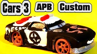 Pixar Cars 3 Custom Diecast APB Demolition Derby Crazy 8 Cars with Lightning McQueen Zebra Mater