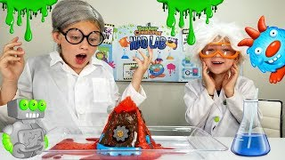 Will FRANCESCA Get a Job At LEAH'S Science Lab? BEAKER CREATURES Cool Kids Science Experiments!