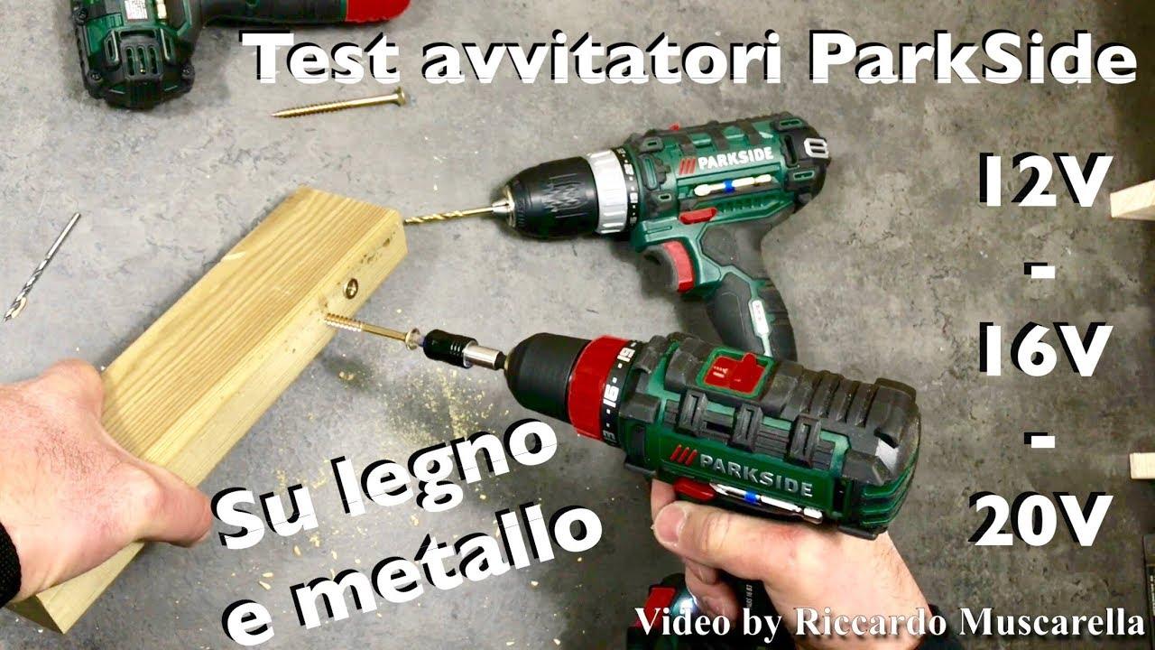 Avvitatori lidl parkside test completo su metallo e legno for Trapano avvitatore parkside 20v recensioni