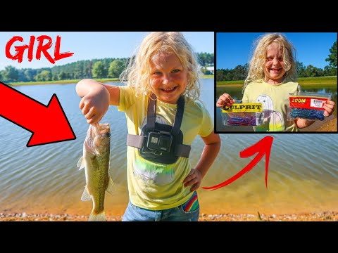 6-Year-Old GIRL Picks Our Fishing Lures & Catches Her FIRST FISH Ever!!!