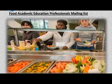 Food Academic Education Professionals Mailing list 1