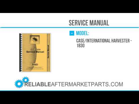 2771 new case 1830 skid steer service manual