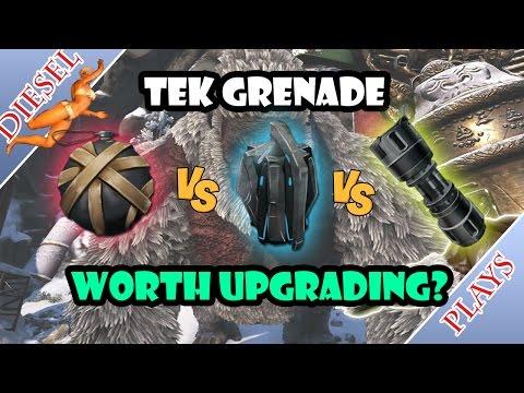 ART OF ARK - TEK GRENADE VS CLUSTER GRENADE VS GRENADE