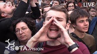 Москвичи протестуют на Трубной за допуск оппозиционных кандидатов в депутаты