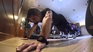 bench press 70kg squat 102 5kg deadlift 140kg powerlifting hiit en cinta y flexiones