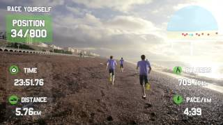 Repeat youtube video GOOGLE GLASS FOR FITNESS - Race Yourself - Virtual Reality Fitness Motivation