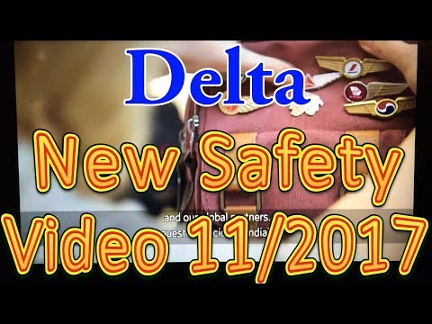 Delta's new Safety Video November 2017 with Instruction by the new CEO, Ed Bastian