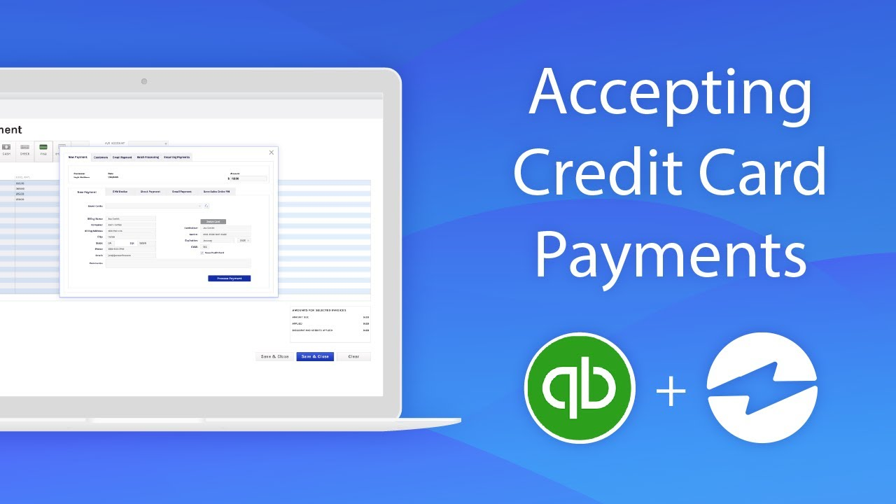 How To Accept Credit Card Payments Inside of QuickBooks ...