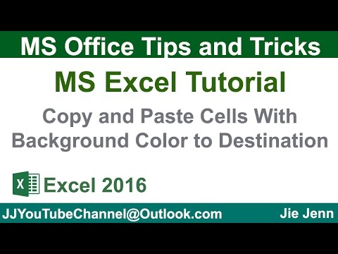 Copy and Paste Colored Cells To Destination using VBA | Excel Tutorial