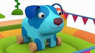 Деревяшки - Арбуз + Батут- обучающие мультфильмы для малышей 0-4