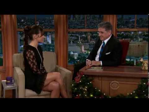 Evangeline Lilly - gorgeous and great legs - Craig Ferguson show December 3, 2013
