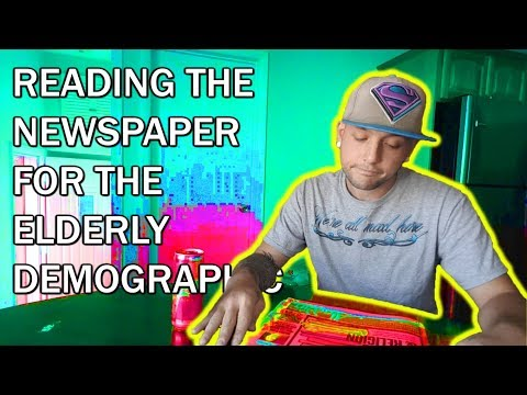 READING THE NEWSPAPER FOR THE ELDERLY DEMOGRAPHIC (VLOG)