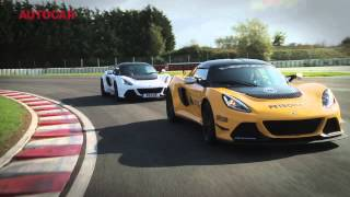 Lotus Exige V6 Cup - road car vs race car - autocar.co.uk(Lotus is on its way back, and the proof is the Lotus Exige V6 Cup - both in street trim, the Cup S, and the Cup R racer. Steve Sutcliffe puts them to the test., 2013-10-25T17:05:35.000Z)