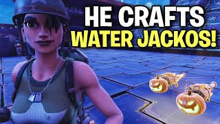 Is this the guy that crafts Water Jack o Launchers? 🤔 (Scammer Get Scammed) Fortnite Save The World