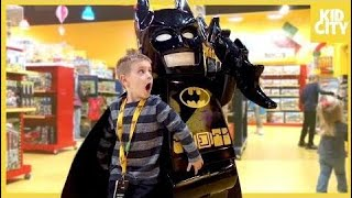 Giant Lego Batman Movie Unboxing with Batman Surprise Toys | KIDCITY & Cartoon Movies
