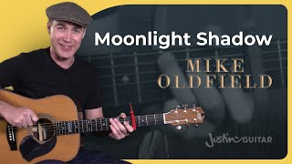 Moonlight Shadow - Mike Oldfield - Beginner Acoustic Guitar Lesson Tutorial (BS-622)