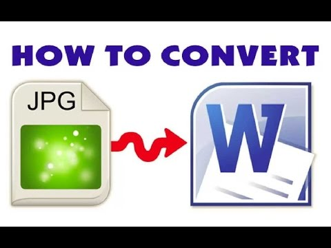 How To Convert Scanned JPEG Or Image To MS Office Word Video HD 2019
