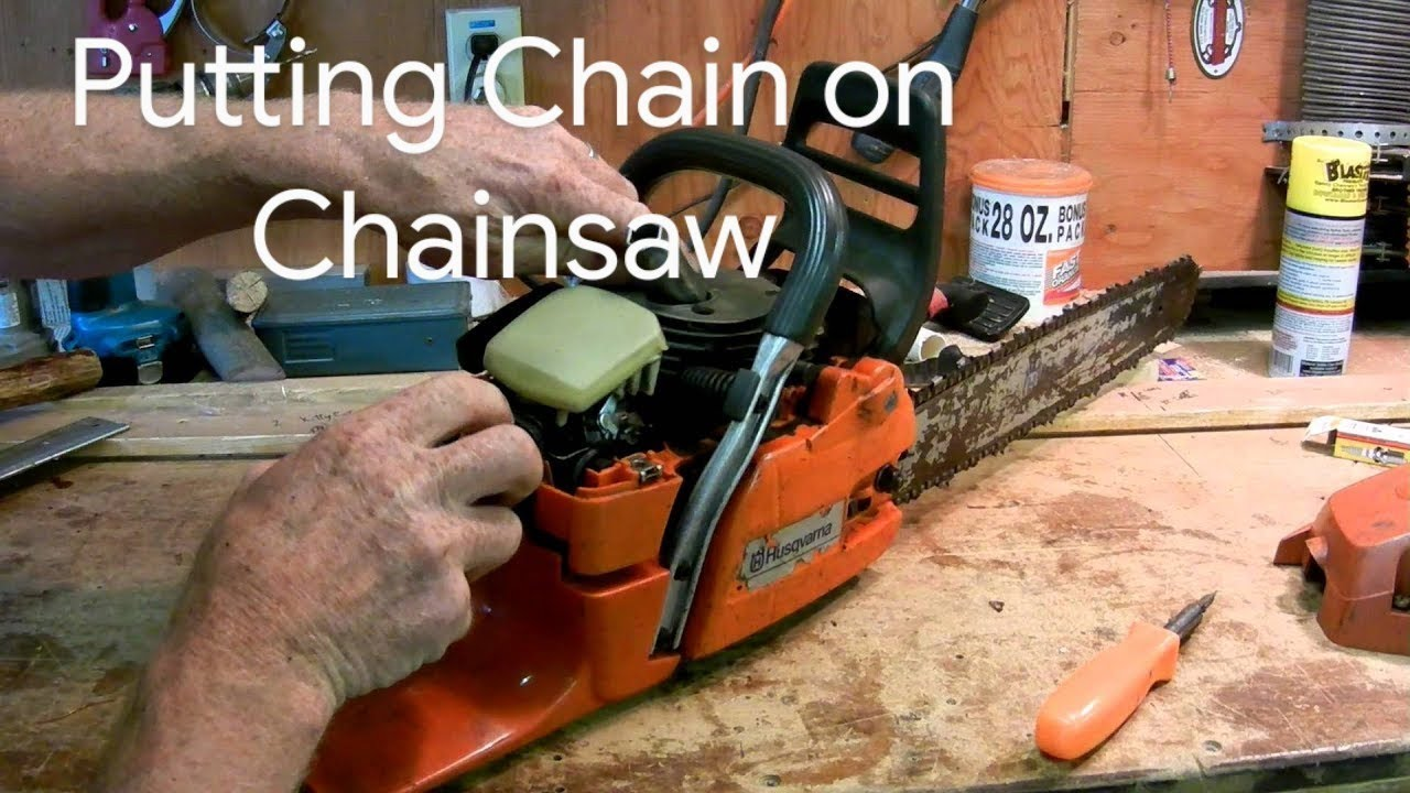 How to put a chain on a chainsaw youtube how to put a chain on a chainsaw greentooth