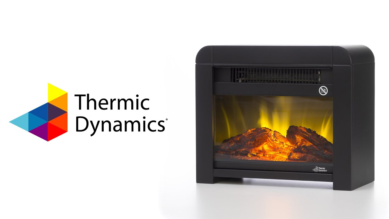 thermic dynamics electric fireplace u0026 heater 1200w youtube