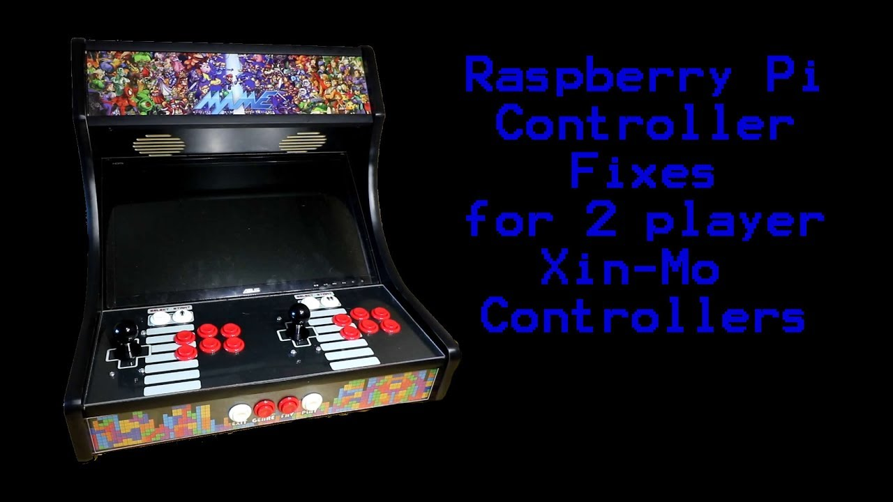 2 Player Arcade Xin-Mo Retroarch Emulation Station Controller Fix