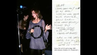 """Mazzy Star - WALK IN DARK (formerly mis-titled """"Bad Dreams Smile"""") - live '90,unreleased song+lyrics"""