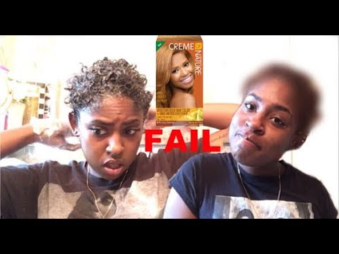 DYING MY TWA BLONDE!? FAIL | CREME OF NATURE
