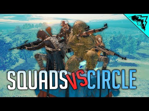 SQUADS VS CIRCLE - Battlegrounds Livestream (PUBG Gameplay)