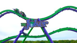 The Joker Rider Cam Roller Coaster POV Six Flags New England 2017