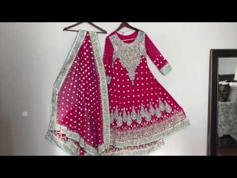 Pakistani bridal lehenga Heavy work choli  Indian floor length anarkali sari