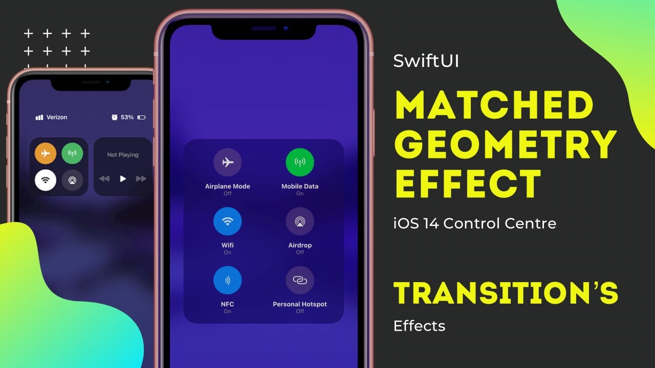 SwiftUI Matched Geometry Effect Transitions - iOS 14 Control Center - Animation's