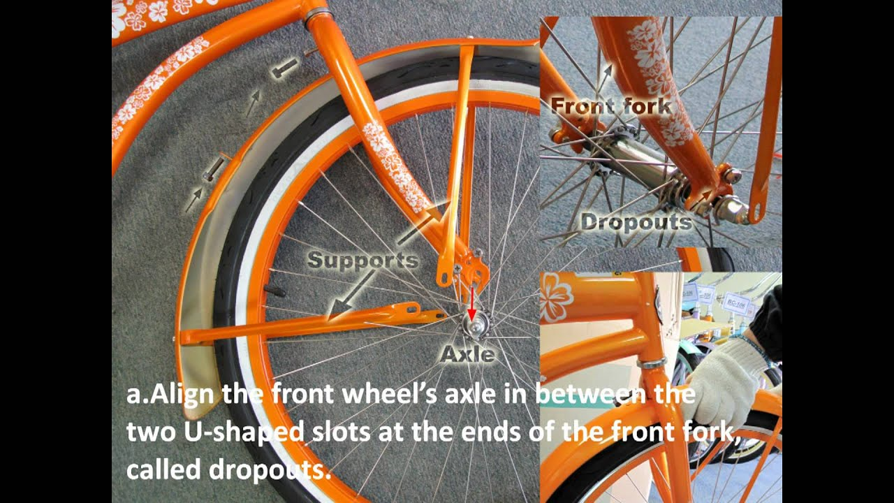 How to assemble a bike bicycle beach cruiser - YouTube
