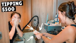 TIPPING OUR HOUSEKEEPER $500 (quarantined in Singapore)