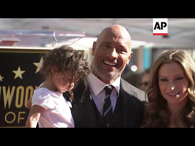 Dwayne 'The Rock' Johnson honored with a Walk of Fame star