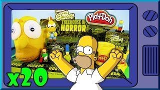 Play Doh The Simpsons Treehouse Of Horror Full Case Unboxing Kidrobot Toys 2014 Disney Cars Toy Club
