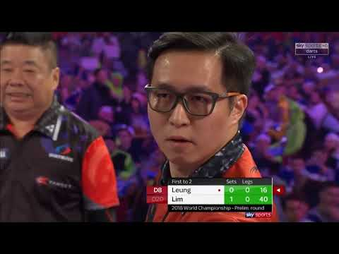 Lim vs Leung. World Darts Championship.