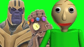 Can Thanos' INFINITY GAUNTLET Kill BALDI from Baldi's Basics in Education and Learning in Gmod?
