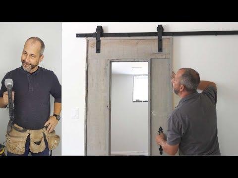 How to Build a Custom Barn Board Door with Mirror