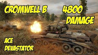 Cromwell B, 4800 Damage, Ace Tanker, Devastator - WOT Console