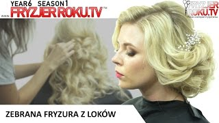 Zebrana fryzura z loków. FryzjerRoku.tv