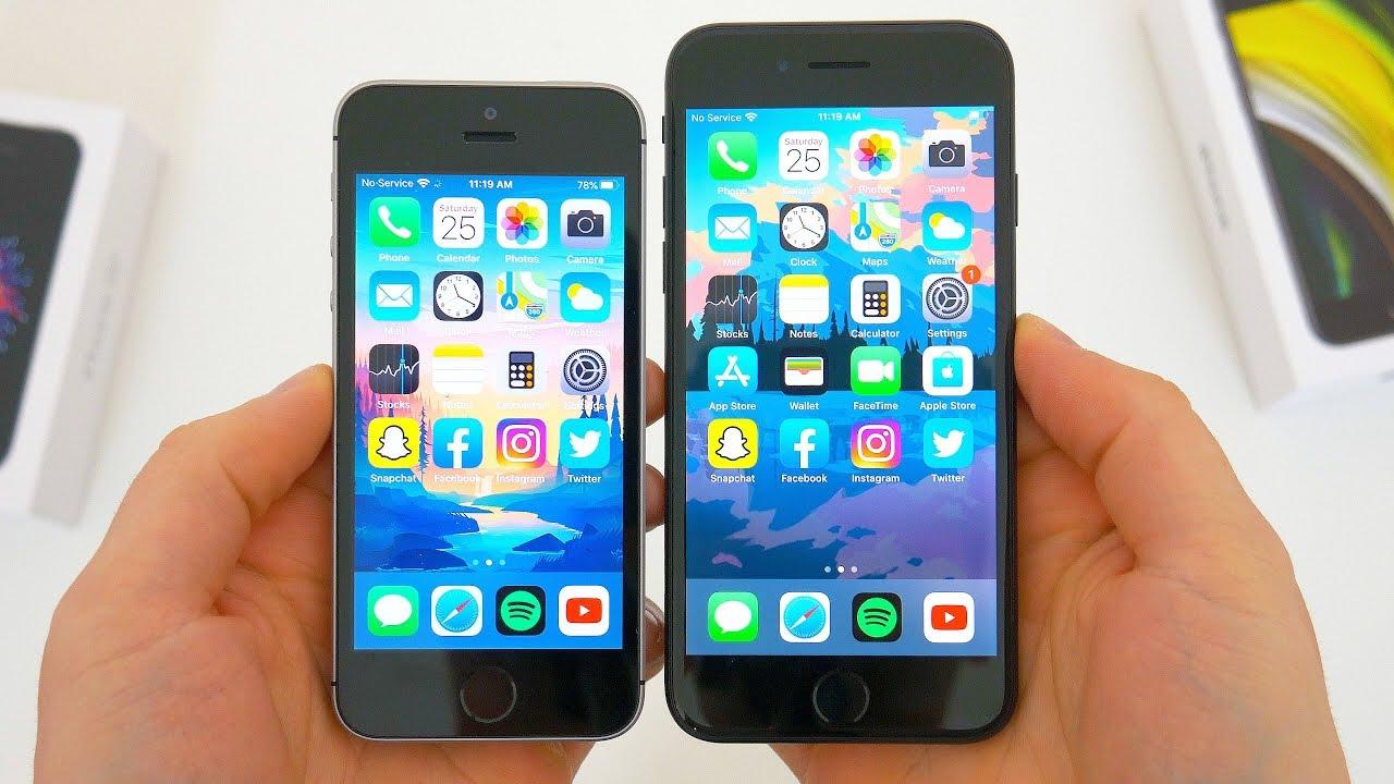 Iphone Se 2020 Vs Original Iphone Se 2016 Comparison Youtube