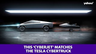 Tesla's Cybertruck has a matching jet ski