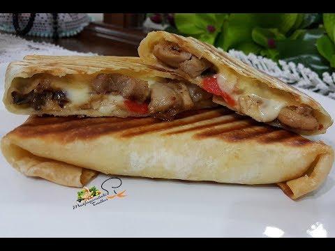 Hem Kahvaltılık Hem İkramlık Peynirli Tavuklu Dürüm Wrap L Mutfağımdan Tadlar L Nefis Tarifler