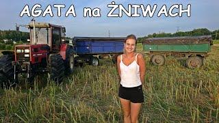 Agatka przyjechała na Żniwa - Rzepak 2019