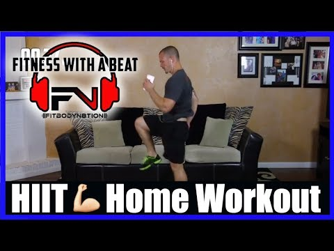 Home Workout HIIT Cardio Routine for Weight Loss… High Energy  Soundtrack… Home Workout Video
